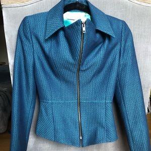 T Tahari Tweed Blazer in Sapphire Blue - NEW
